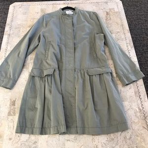 DKNY Pure Lagen style army green duster Large NWT